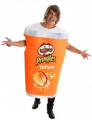 Oranssi Pringles™-purkin naamiaisasu aikuiselle