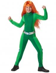 Vihreän vakoojan naamiaisasu tytölle