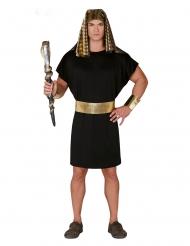 Mustakultainen faaraon naamiaisasu miehelle