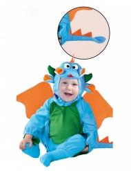 Sininen lohikäärmepuku vauvalle