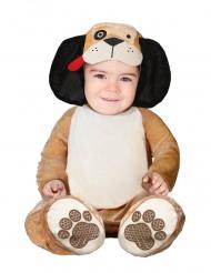 Pieni ruskea koira naamiaisasu vauvalle