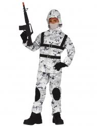 Talvisen sotilaan naamiaisasu lapselle