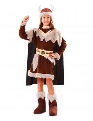 Ruskea viikinkiasu tytölle