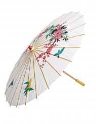 Valkoinen paperinen aurinkovarjo 56 cm