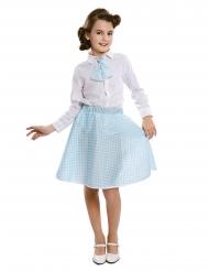 Sininen pin-up hame sekä kravatti tytölle