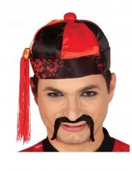 Kiinalainen punamusta hattu miehelle