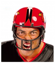 Amerikkalaisen jalkallon pelaajan punainen kypärä miehelle