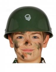 Khakinvärinen sotilaskypärä lapselle