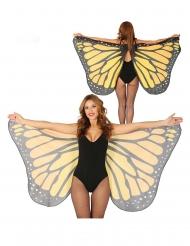 Oranssit perhosen siivet 170 x 80 cm