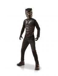 Klassinen Black Panther™-naamiaisasusetti hanskoilla lapselle