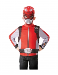 Power Rangers™-punainen paita ja naamari lapselle