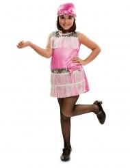 Vaaleanpunainen charleston-mekko tytölle