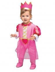 Prinsessan vaaleanpunainen naamiaisasu ja kruunu vauvalle