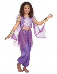 Itämaisen violetti prinsessan naamiaisasu tytölle