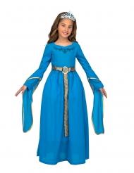 Sininen keskiaikaisen prinsessan naamiaisasu tytölle