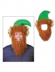 Menninkäisen parta ja hattu aikuiselle