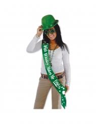 Humoristinen satiininen Saint Patrick- huivi