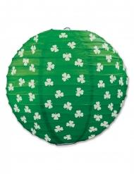 Vihreä paperilyhty apiloilla 24 cm