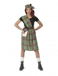 Skotlantilaisen vihreä naamiaisasu naiselle