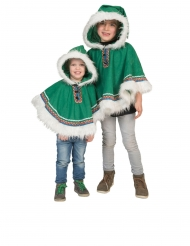 Eskimon vihreä poncho vauvalle