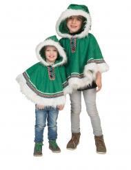 Vihreä eskimoponcho lapselle