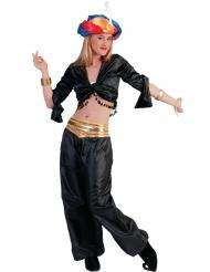 Musta tanssijan toppi naiselle