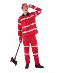 Punainen palomies-naamiaisasu nuorelle