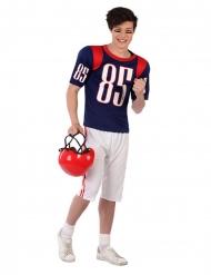 Amerikkalaisen jalkapallon pelaajan naamiaisasu nuorelle