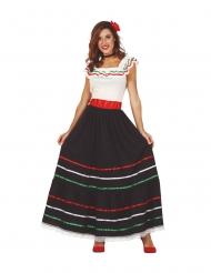 Pitkä meksikolainen naamiaisasu naiselle