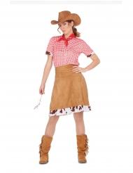 Lännen cowgirlin naamiaisasu naiselle