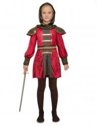 Punainen ritariasu tytölle