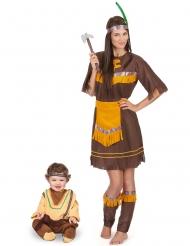 Ruskea intiaaniasu äidille ja pojalle