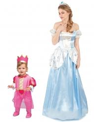 Prinsessa-asut äidille ja tyttärelle