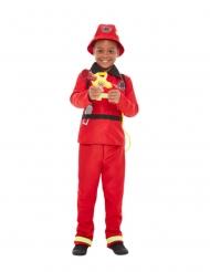 Punainen palomies-puku pojalle