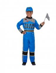Formula 1-kuljettajan sininen naamiaisasu pojalle