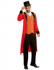 Sirkustirehtööri-punainen asu miehelle