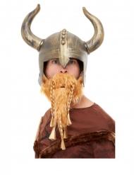 Kullanvärinen viikinkikypärä ja parta