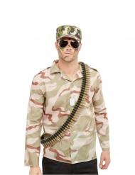 Sotilaan asusteet miehelle