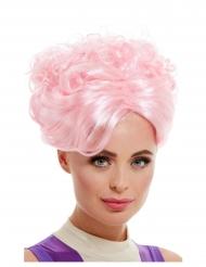 Vaaleanpunainen vintageperuukki naiselle