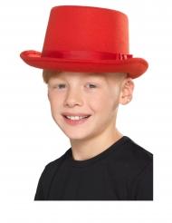 Punainen silinterihattu lapselle