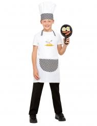 Valkoinen kokkiasu lapselle