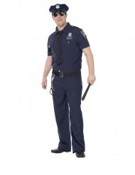 NYC-poliisin plus-kokoinen naamiaisasu miehelle