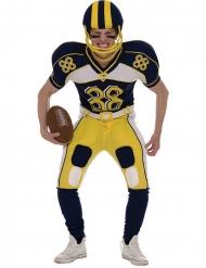 Amerikkalainen jalkapallon pelaajan keltainen naamiaisasu miehelle