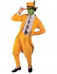 Vihreä naamioisen miehen naamiaisasu