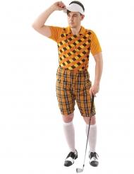 Oranssi golffarin naamiaisasu miehelle