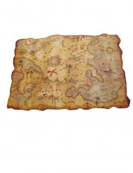 Muovinen merirosvon kartta 29 x 45 cm