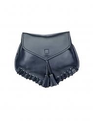 Musta tekonahkainen laukku