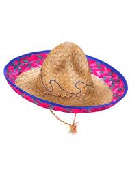 Sininen/vaaleanpunainen sombrero
