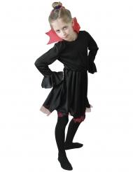 Vampyyrin naamiaisasu punaiselle kauluksella tytölle