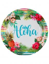Aloha- pahvilautaset 22,5 cm 10 kpl